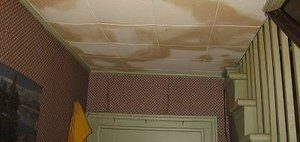 Interior Water Damage Caused By An Ice Dam